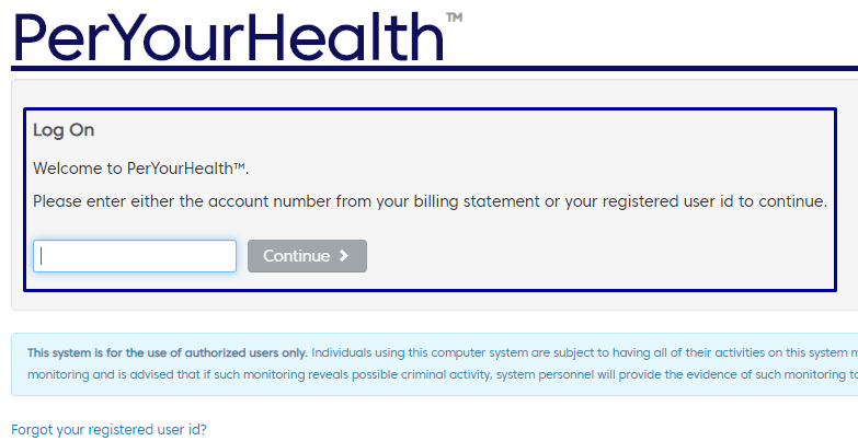 How to Login at www.Peryourhealth.com