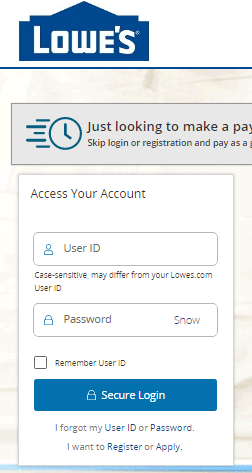 How to Login to the Lowes Credit Card Account?