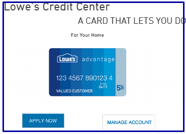 How To Apply For Lowe's Advantage Credit Card?