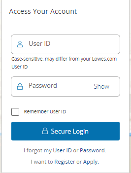 How to Login to the Lowes Advantage Credit Card Account?