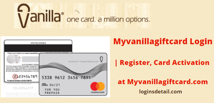 Myvanillagiftcard Login | Register, Card Activation at Myvanillagiftcard.com